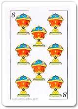 8 de copas en posicion vertical - Tarot10