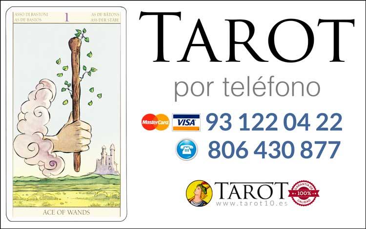 As de Bastos de los Arcanos Menores del Tarot - Tarot por Teléfono
