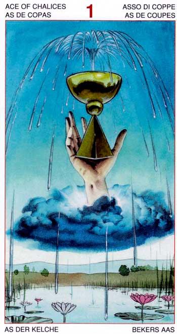 As de Copas - Arcanos Menores - Golden Dawn Tarot