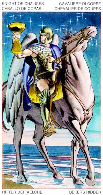 Caballero de Copas - Arcanos Menores - Golden Dawn Tarot