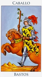 Caballo de Bastos - Arcanos Menores del Tarot - Radiant