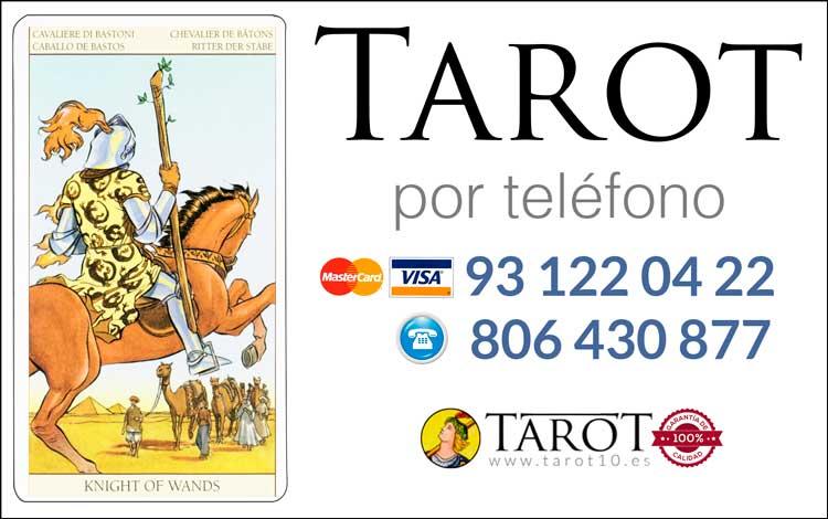 Caballo de Bastos de los Arcanos Menores del Tarot - Tarot por Teléfono