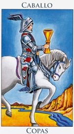 Caballo de Copas - Arcanos Menores del Tarot - Radiant
