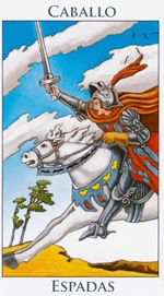 Caballo de Espadas - Arcanos Menores del Tarot - Radiant