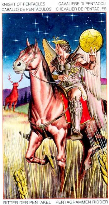 Caballo de Oros - Arcanos Menores - Golden Dawn Tarot