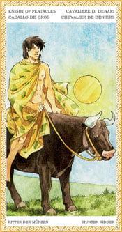 Caballo de Oros - Arcanos Menores del Tarot