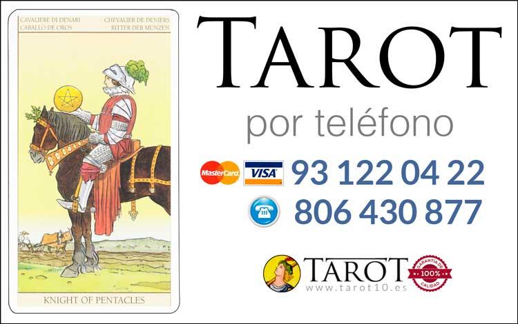 Caballo de Oros de los Arcanos Menores del Tarot - Tarot por Teléfono