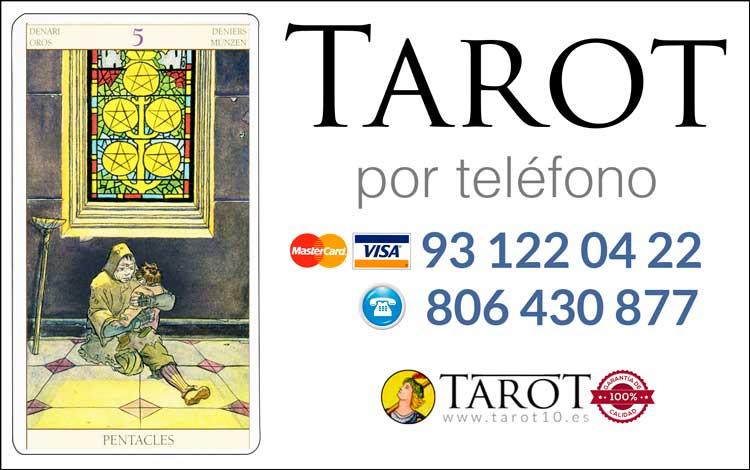 Cinco de Oros de los Arcanos Menores del Tarot - Tarot por Teléfono