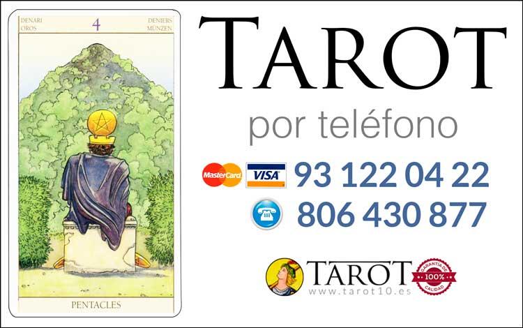 Cuatro de Oros de los Arcanos Menores del Tarot - Tarot por Teléfono