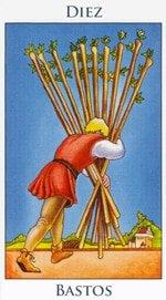 Diez de Bastos - Arcanos Menores del Tarot - Radiant