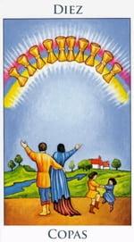 Diez de Copas - Arcanos Menores del Tarot - Radiant