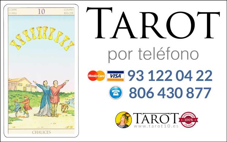 Diez de Copas de los Arcanos Menores del Tarot - Tarot telefónico