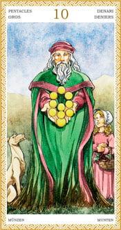 Diez de Oros - Arcanos Menores del Tarot