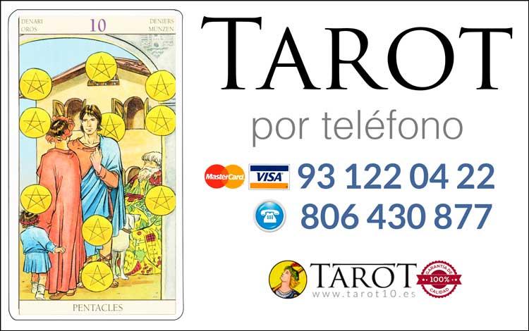 Diez de Oros de los Arcanos Menores del Tarot - Tarot por Teléfono