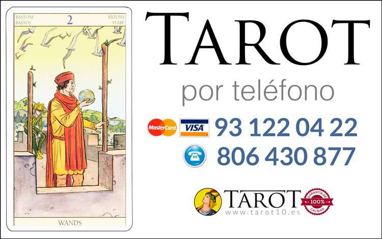 Dos de Bastos de los Arcanos Menores del Tarot - Tarot por Teléfono