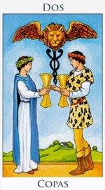 Dos de Copas - Arcanos Menores del Tarot - Radiant