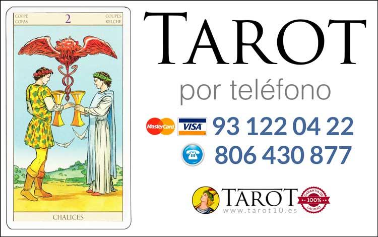 Dos de Copas de los Arcanos Menores del Tarot - Tarot por Teléfono