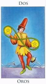 Dos de Oros - Arcanos Menores del Tarot - Radiant