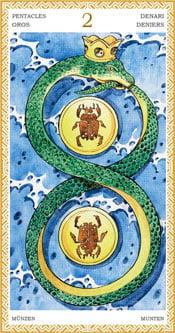 Dos de Oros - Arcanos Menores del Tarot