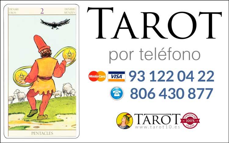 Dos de Oros de los Arcanos Menores del Tarot - Tarot por Teléfono