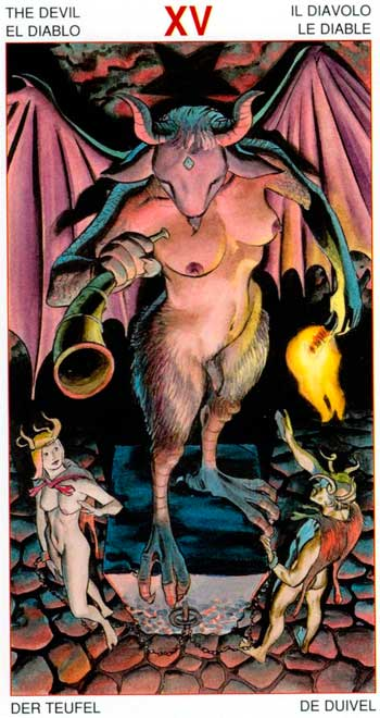 El Diablo - Arcanos Mayores - Golden Dawn Tarot