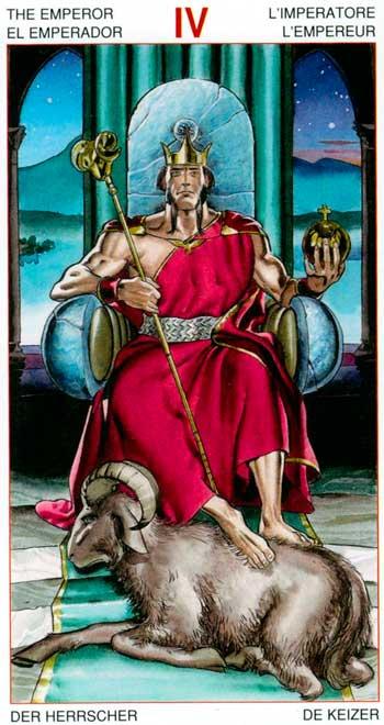 El Emperador - Arcanos Mayores - Golden Dawn Tarot