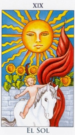 EL SOL - IV - Arcanos Mayores del Tarot