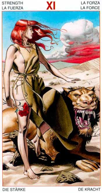La Fuerza - Arcanos Mayores - Golden Dawn Tarot