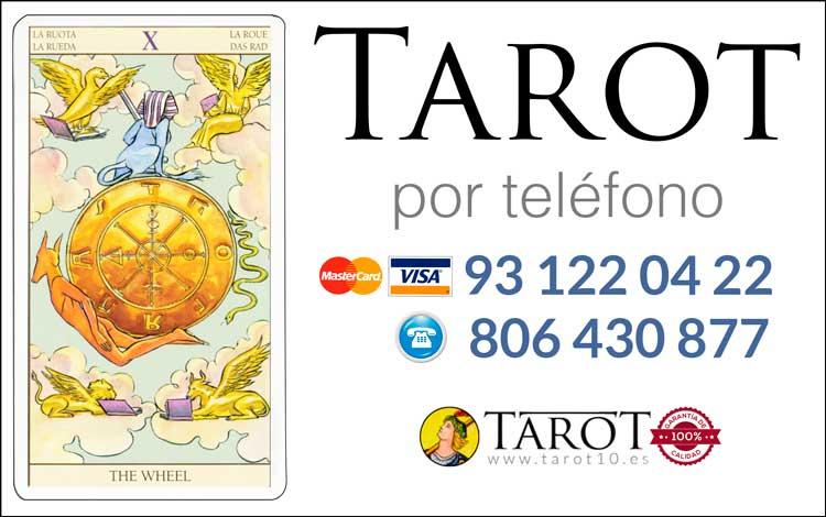 La Rueda de la Fortuna - Arcanos Mayores - Tarot por Teléfono