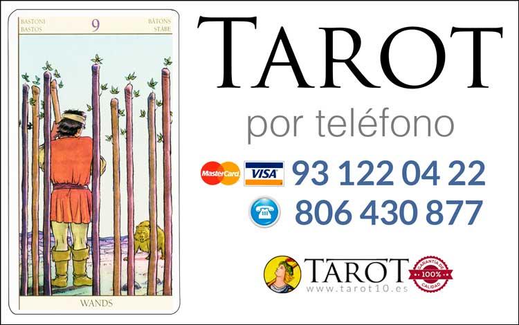 Nueve de Bastos de los Arcanos Menores del Tarot - Tarot por Teléfono