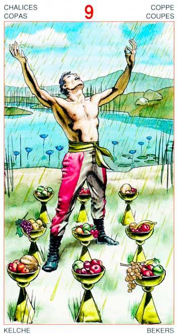 Nueve de Copas - Arcanos Menores - Golden Dawn Tarot