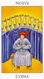 Nueve de Copas - Arcanos Menores del Tarot - Radiant