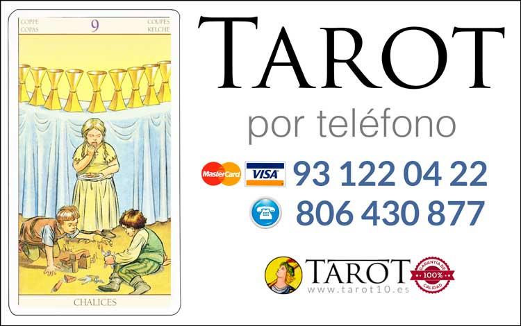 Nueve de Copas de los Arcanos Menores del Tarot - Tarot por Teléfono