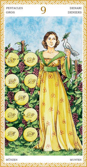 Nueve de Oros - Arcanos Menores del Tarot