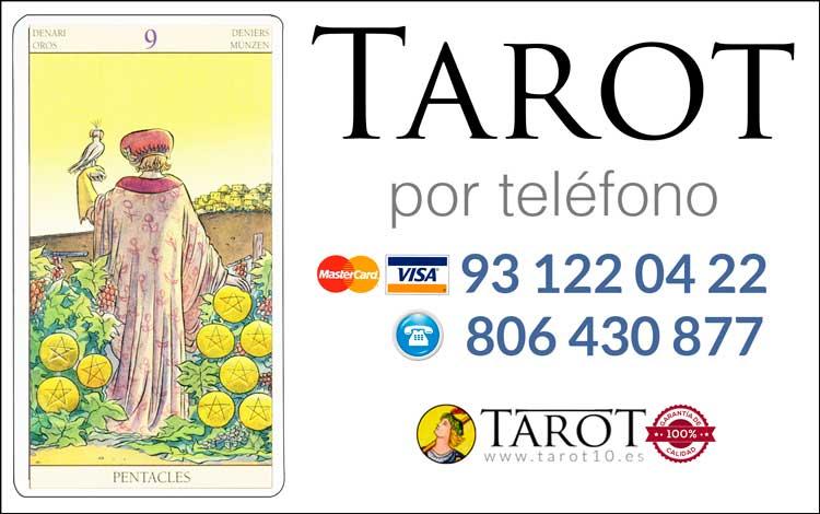 Nueve de Oros de los Arcanos Menores del Tarot - Tarot por Teléfono