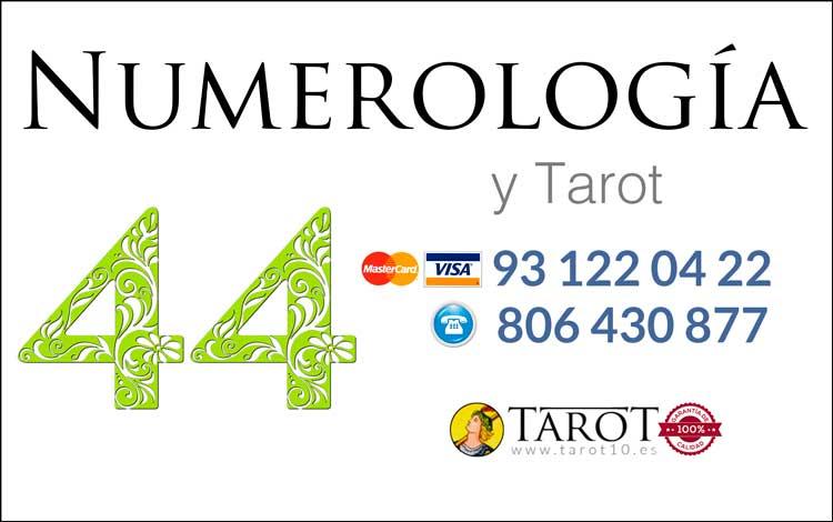 Número 44 - Números Maestros - Numerología y Tarot por Teléfono - Tarot10