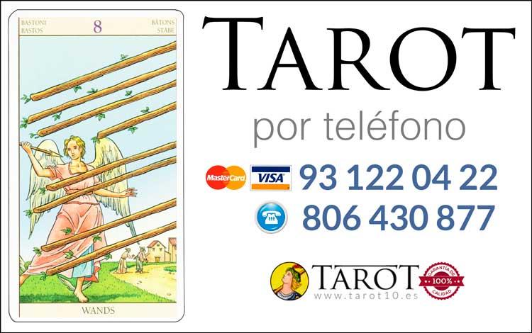 Ocho de Bastos de los Arcanos Menores del Tarot - Tarot por Teléfono