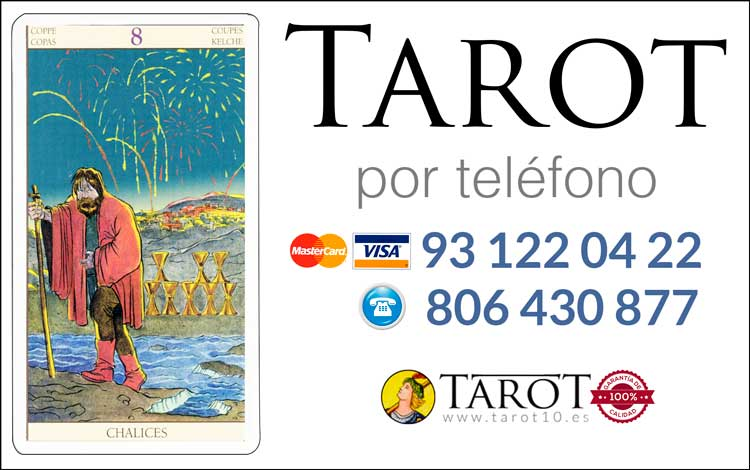 Ocho de Copas de los Arcanos Menores del Tarot - Tarot por Teléfono