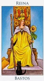 Reina de Bastos - Arcanos Menores del Tarot - Cartas de LA Corte - Radiant