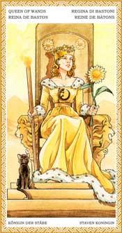 Reina de Bastos - Arcanos Menores del Tarot