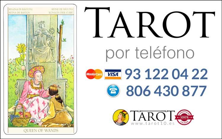 Reina de Bastos de los Arcanos Menores del Tarot - Tarot por Teléfono