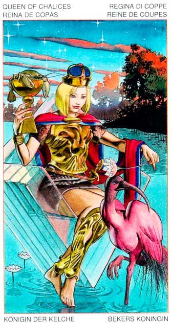 Reina de Copas - Arcanos Menores - Golden Dawn Tarot