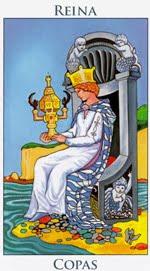 Reina de Copas - Arcanos Menores del Tarot - Cartas de LA Corte - Radiant