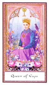 Reina de Copas en Posición Vertical - Tarot10
