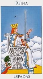 Reina de Espadas - Arcanos Menores del Tarot - Cartas de LA Corte - Radiant