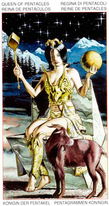 Reina de Oros - Arcanos Menores - Golden Dawn Tarot
