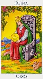 Reina de Oros - Arcanos Menores del Tarot - Cartas de LA Corte - Radiant