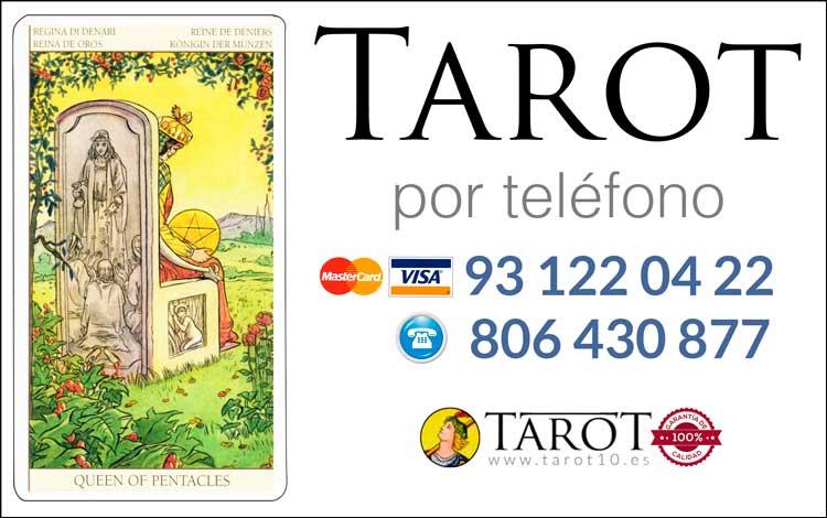 Reina de Oros de los Arcanos Menores del Tarot - Tarot por Teléfono