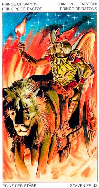 Rey de Bastos - Arcanos Menores - Golden Dawn Tarot