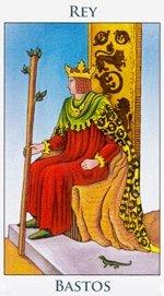 Rey de Bastos - Arcanos Menores del Tarot - Cartas de LA Corte - Radiant